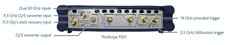 PicoScope 9300 back panel
